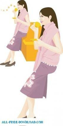 Free fashion vector 336