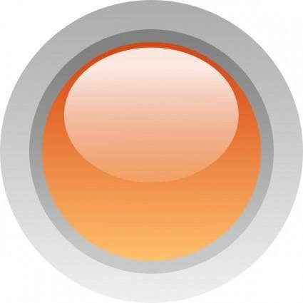 Led Circle (orange) clip art