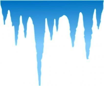 free vector Icicles clip art