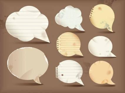 free vector Dialogue bubble paper vector 1