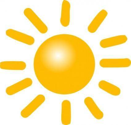 free vector Weather Sunny clip art