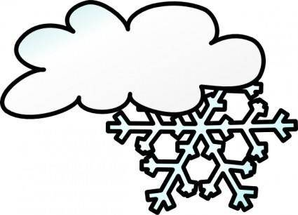 free vector Winter Cloud Snow Flake clip art