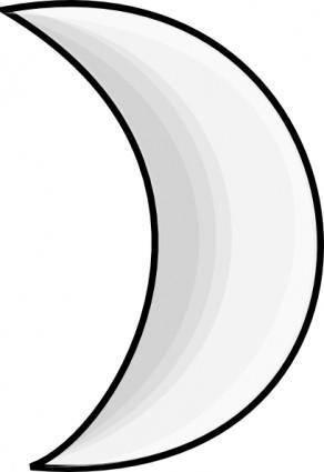 free vector Moon Crescent clip art