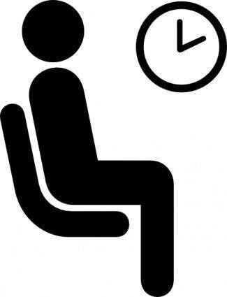 free vector Aiga Waiting Sign clip art