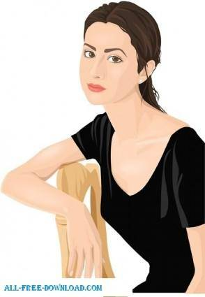Free fashion vector 347