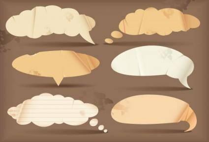 free vector Dialogue bubble paper vector 2