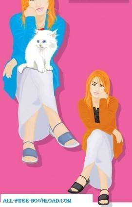 Free fashion vector 351