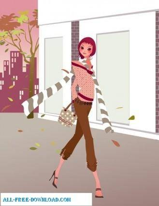 Free fashion vector 353