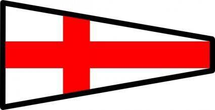 International Maritime Signal Flag 8 clip art
