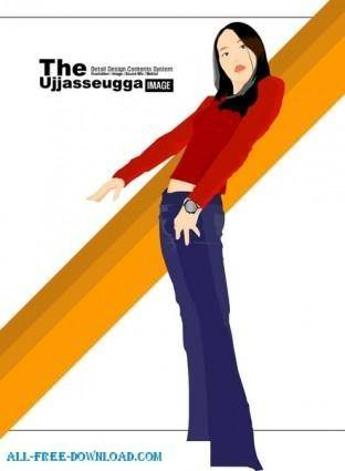 Free fashion vector 356