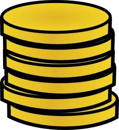 Gold Coins In A Stack clip art