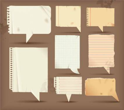 Dialogue bubble paper vector 3
