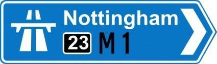 Nottingham Road Signs clip art