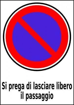 Passo Carrabile clip art