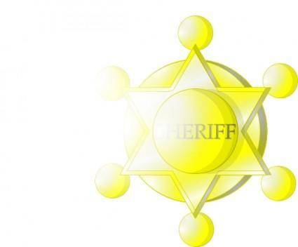free vector Sheriff Star clip art
