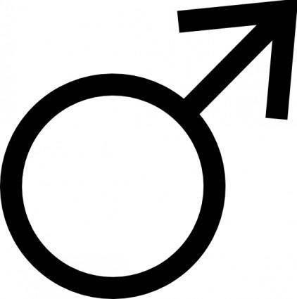 Male Symbol clip art