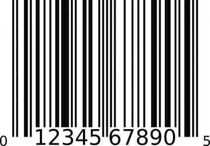free vector Upc-a Bar Code clip art