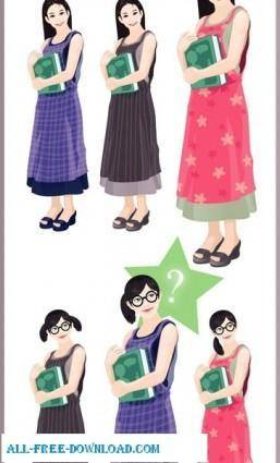 Free fashion vector 366