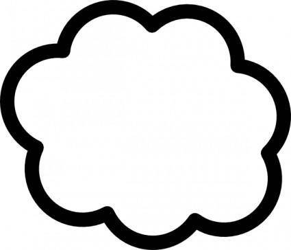 free vector Cloud clip art