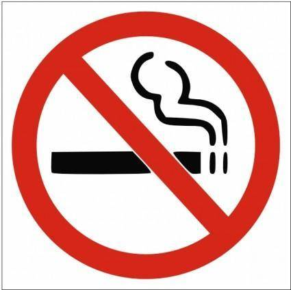 free vector No Smoking Sign clip art