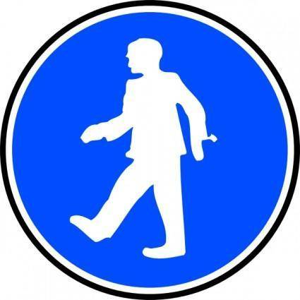 free vector Mandatory Walking clip art