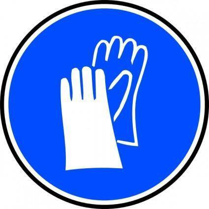 Mandatory Hands Palms Protection clip art