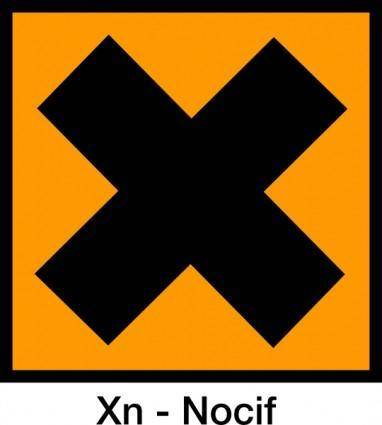 Harmful Warning No Not Do Not Orange Sign clip art
