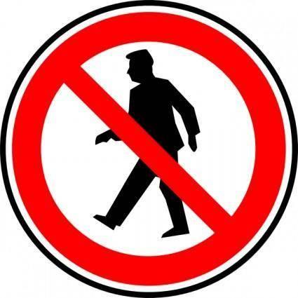 free vector No Walking Pedestrians clip art