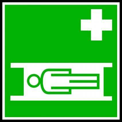 Medical Stretcher Sign clip art