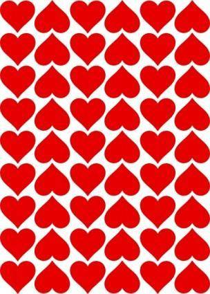 Heart Tiles clip art