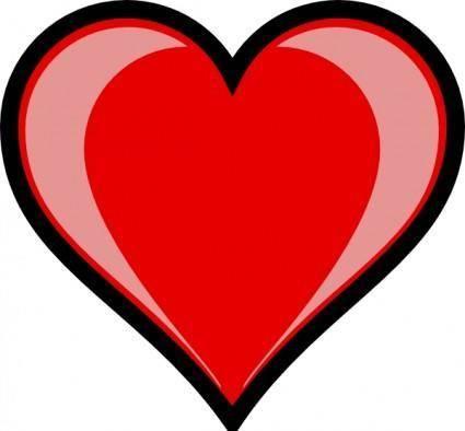 free vector Heart Highlight clip art