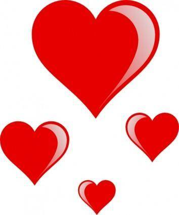 free vector Heart Cluster clip art