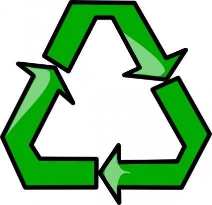 free vector Recycling Sign Symbol clip art