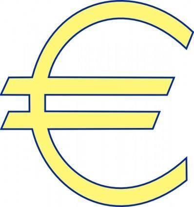 free vector Monetary Euro Symbol clip art