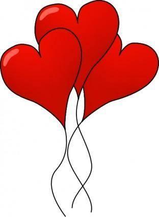 free vector Heart-ballons clip art