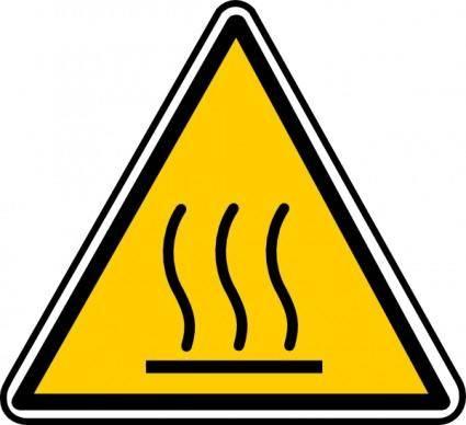 Hot Surface Danger clip art