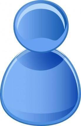 User Symbol Blue clip art
