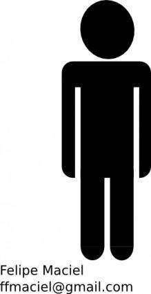 free vector Man Crystal Figure Symbol Sign clip art