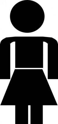 free vector Woman Symbol clip art