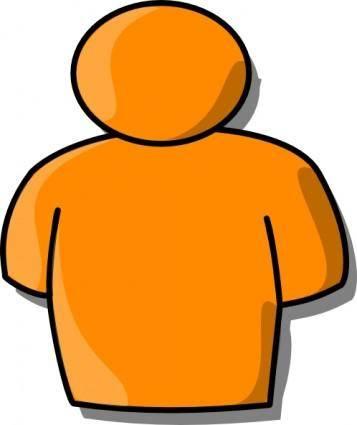 Orange Person clip art