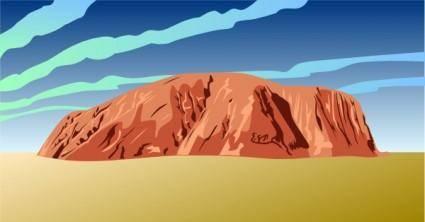 free vector Ayres Rock Australia clip art