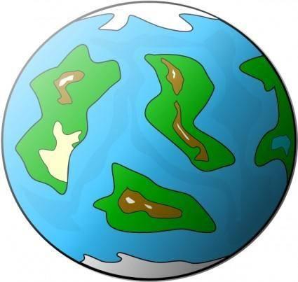 Planet Symbol Globe clip art
