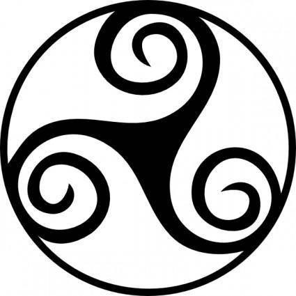 Celtic Triskell clip art