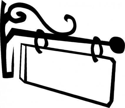Old Hanging Sign clip art