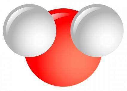 free vector Water Molecule clip art