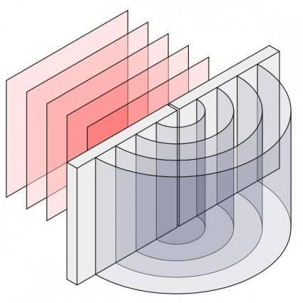 Diffraction Through A Slit clip art