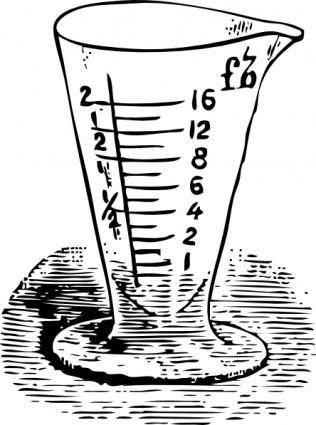 Measuring Glass In Drams clip art
