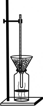 Retort Stand And Thermometer clip art