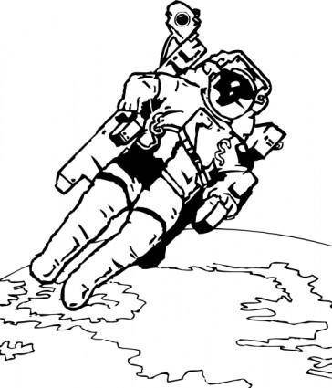 free vector Spacewalk clip art