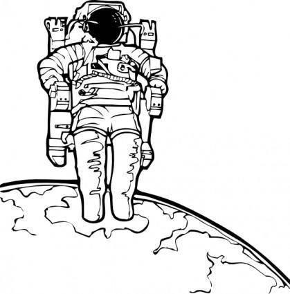 Space Walk clip art